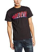 Plastic Head Men's Marvel Comics Daredevil Logo Banded Collar Short Sleeve T-Shirt
