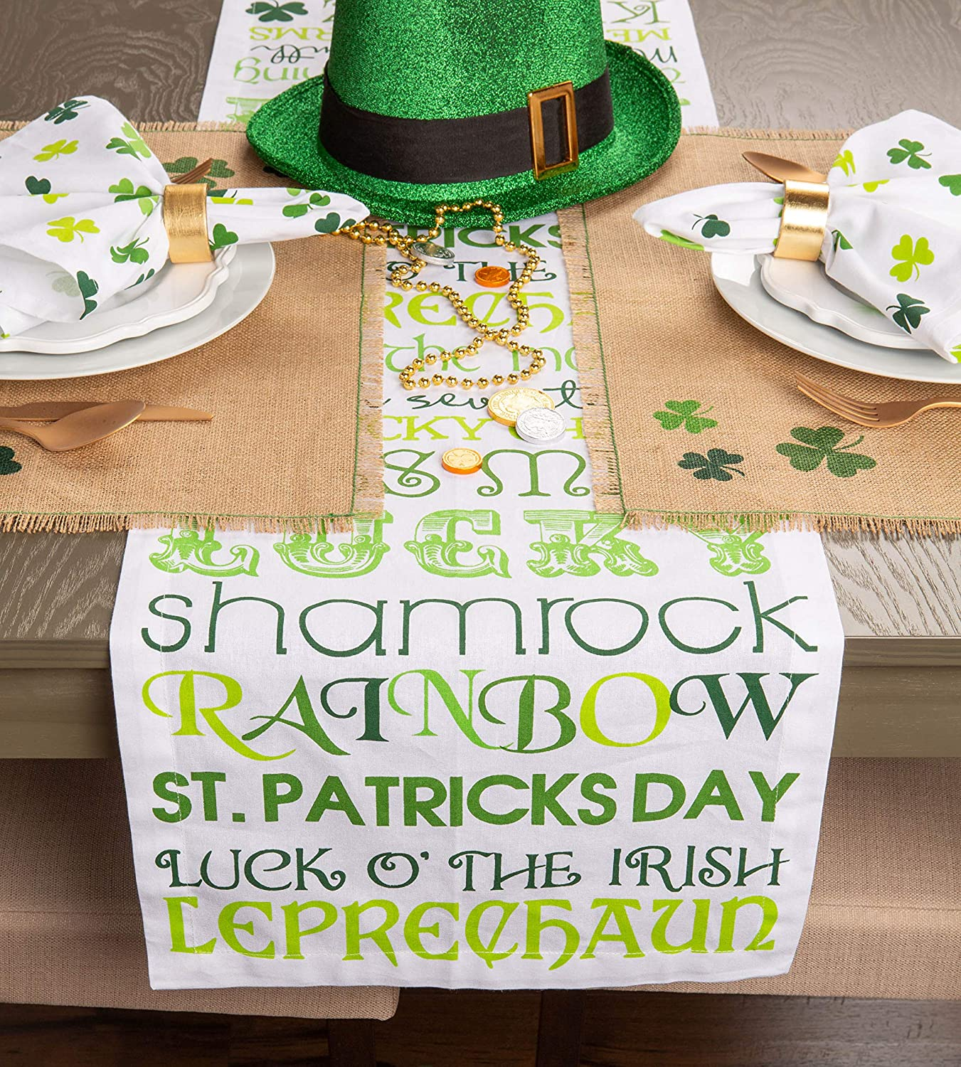 Decorative Oversized Embroidered Kitchen Towels Perfect Home and Kitchen Gift-St Patricks Day 18x28 Set of 3 Perfect Home and Kitchen Gift-St Patrick/'s Day CAMZ33678 18x28 Set of 3 DII Cotton Holiday Dish Towels