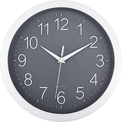 Foxtop Modern Wall Clock Silent Non-Ticking Battery Operated Clock