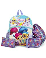 Nickelodeon Shimmer and Shine Purple 16 Backpack Back to School Essentials Set