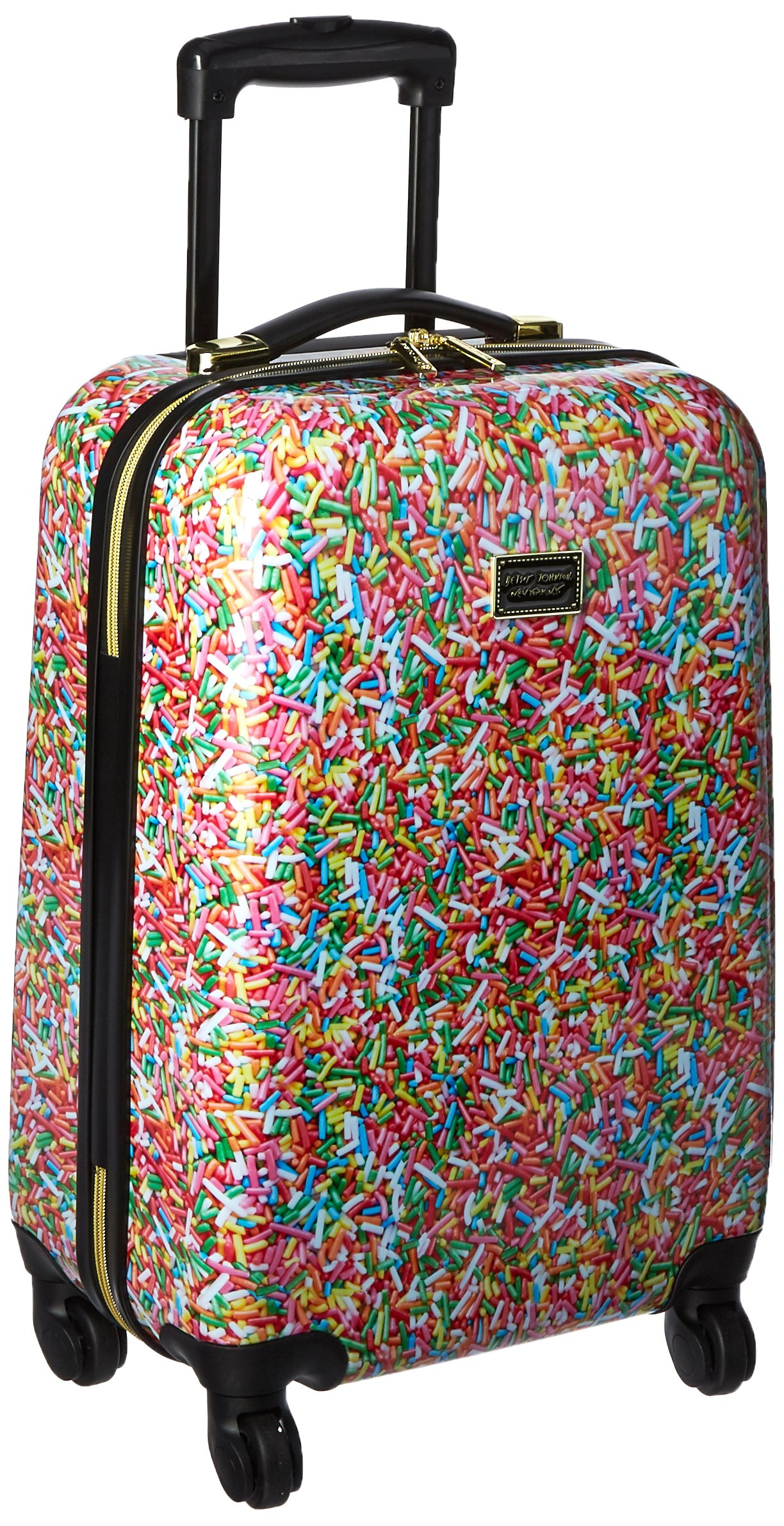 Betsey Johnson Hardside Spinner Carry-on Suitcase 20'', Multi Colored