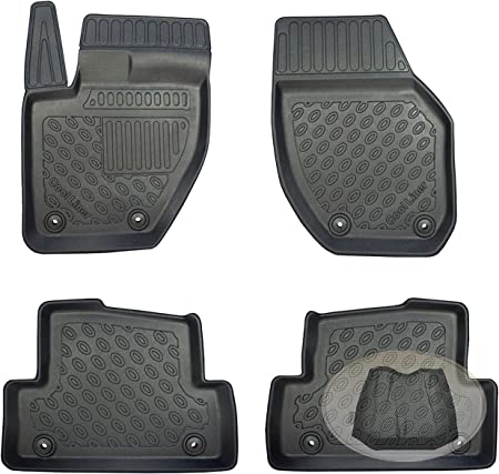 Hatchback 2 volumi Tappetini in gomma antiscivolo premium 3D personalizzati VOLVO V40 Facelifted 4 pez. 2016-
