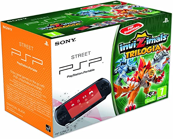 PSP - Consola E 1000 + Invizimals Triple Pack + Cámara, color negro: Amazon.es: Videojuegos