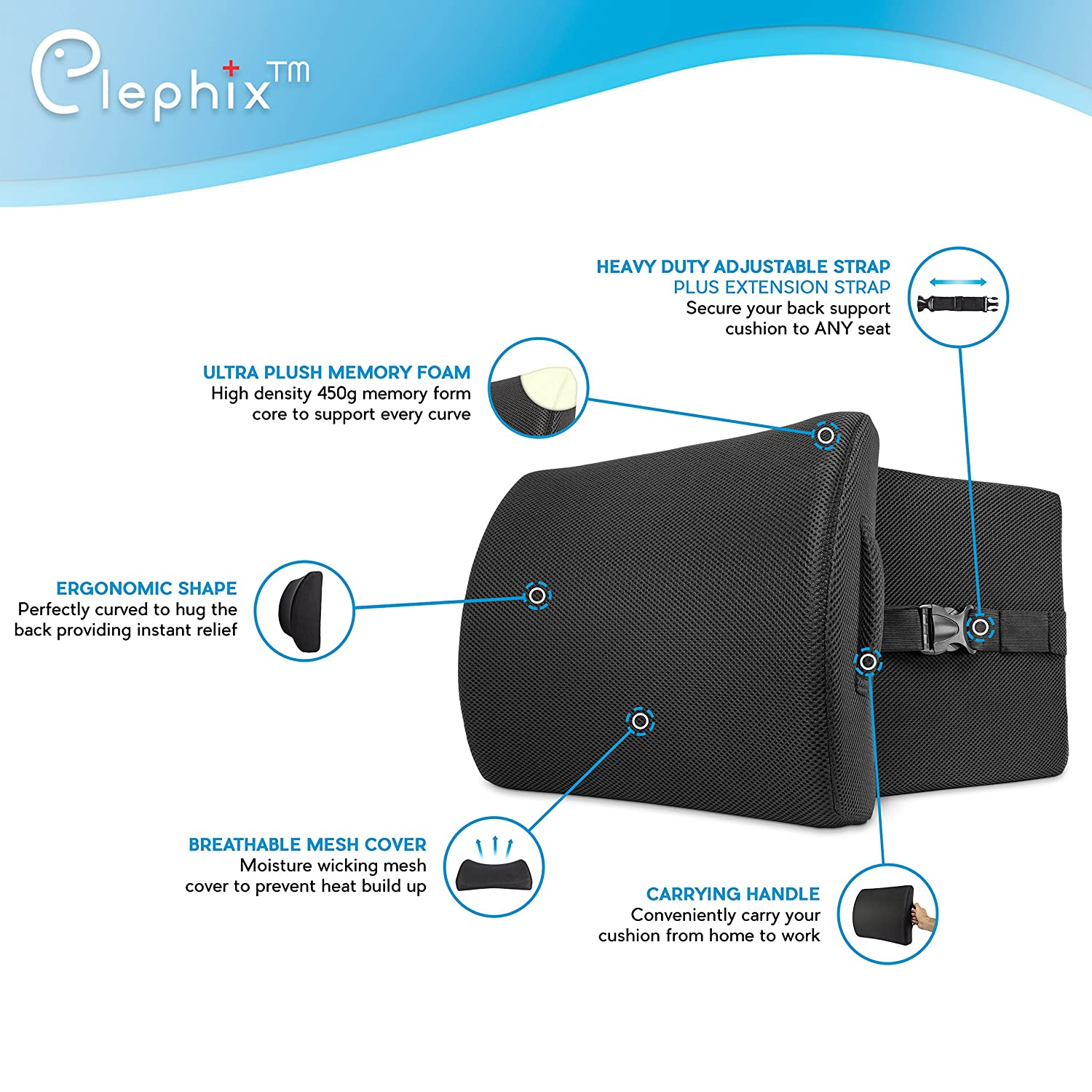 lower back support for chair lumbar pain relief pillow support