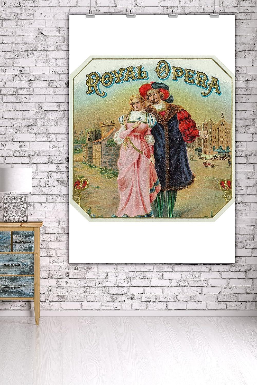24x36 Giclee Gallery Print, Wall Decor Travel Poster Royal Opera Brand Cigar Box Label