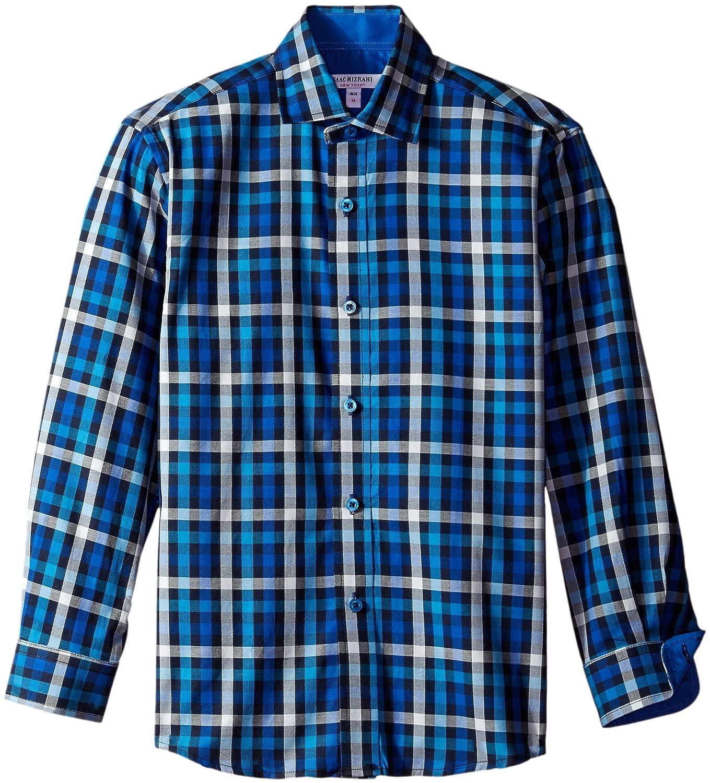 Isaac Mizrahi NEW Multi Plaid Boy/'s Size 7 Button Down Long Sleeve