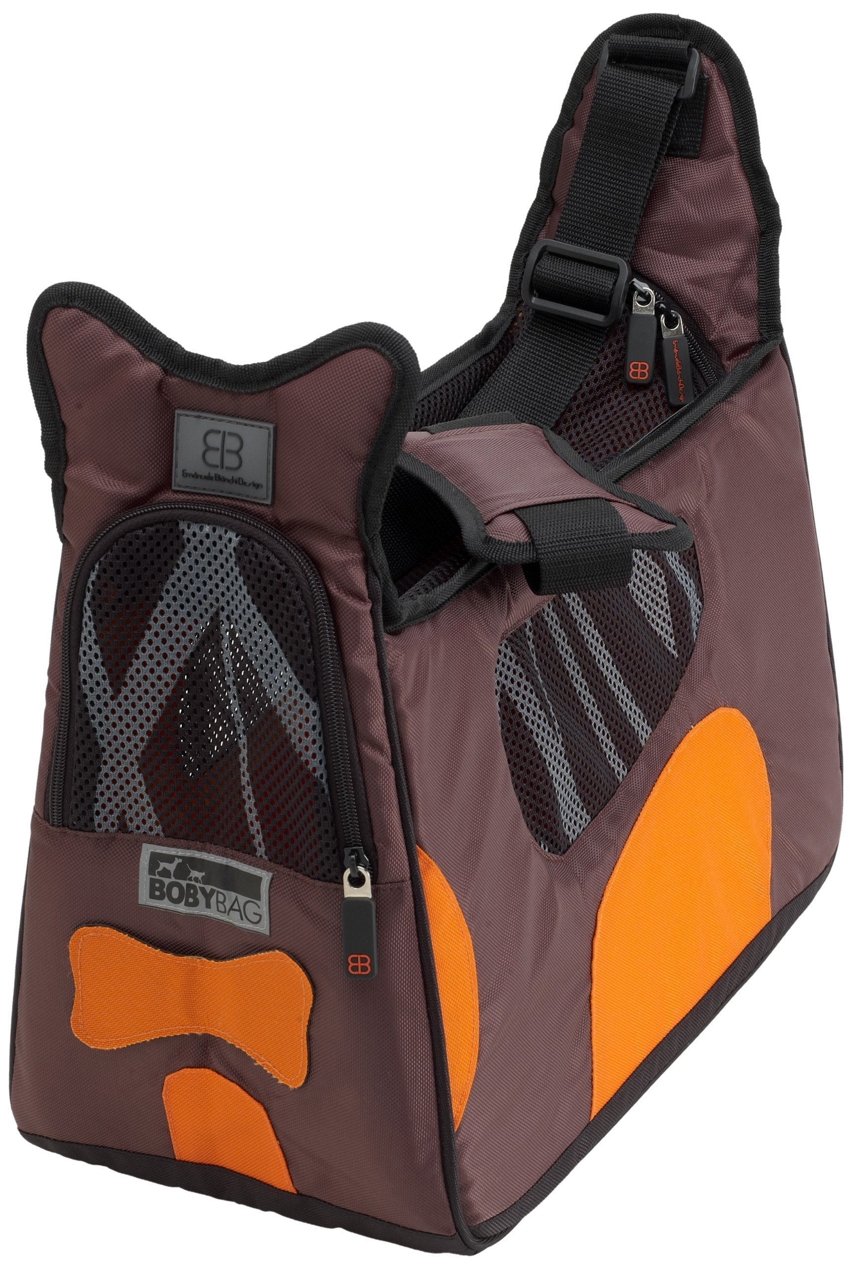 Petego Boby Bag Pet Carrier with Forma Frame, Brown and Orange