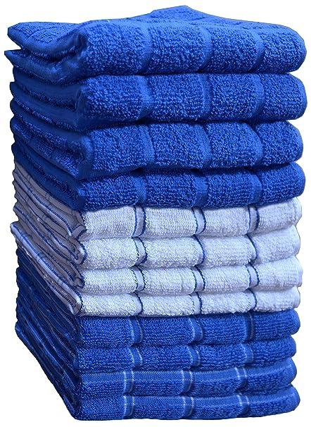 Kitchen Towels (12 Pack, 15X25 Inch) 100% Premium Cotton, Machine Washable  Extra Soft Set of 12, 3 Designs Dobby Weave Kitchen Dish Cloths, Tea ...