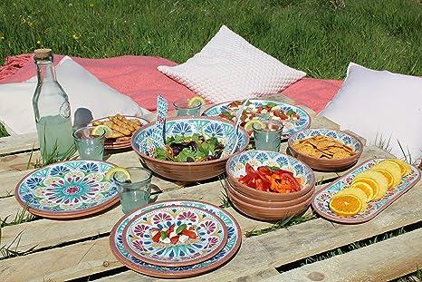 Epicurean Rio Corte 27 cm mélamine assiettes plates Set of 6