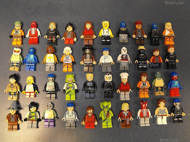 10 NEW LEGO MINIFIG PEOPLE LOT random grab bag of minifigure guys city town set by USA