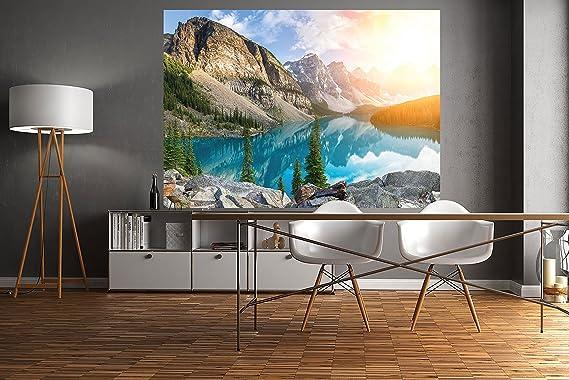 PMP 4life. Wall Picture Mountain Lake en Canadá | 140 x 100 cm | alta resolución Mountain Lake Póster XXL, Nature Póster XXL, Photo Póster | decoración de ...