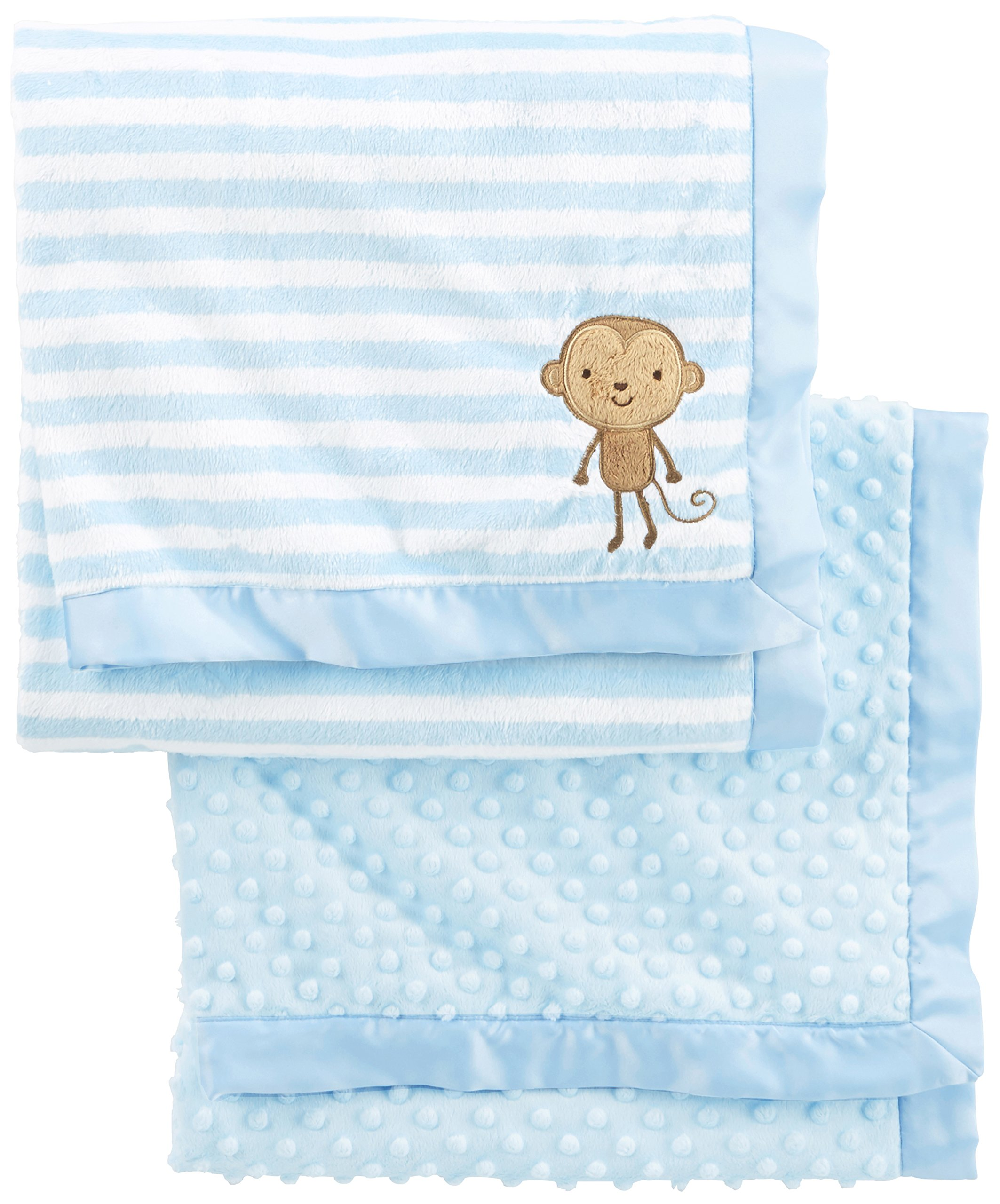 Simple Joys by Carter's Baby Boys' 2-Pack Plush Blankets, Blue, One Size by Simple Joys by Carter's