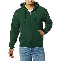 Jerzees Mens Forest Green Adult Full Zip Hooded Sweatshirt