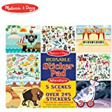 Melissa & Doug Reusable Sticker Pads Set: Adventure - 245+ Stickers
