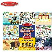 Melissa & Doug - Bloc de Stickers Reutilizables - 245 stickers