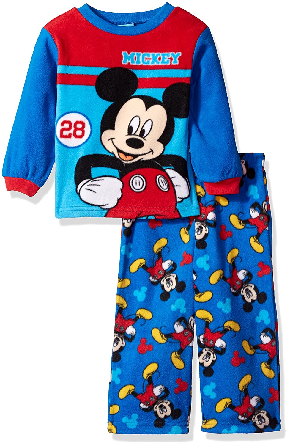 Disney Toddler Boys' Mickey Mouse 2 Piece Fleece Pajama Set