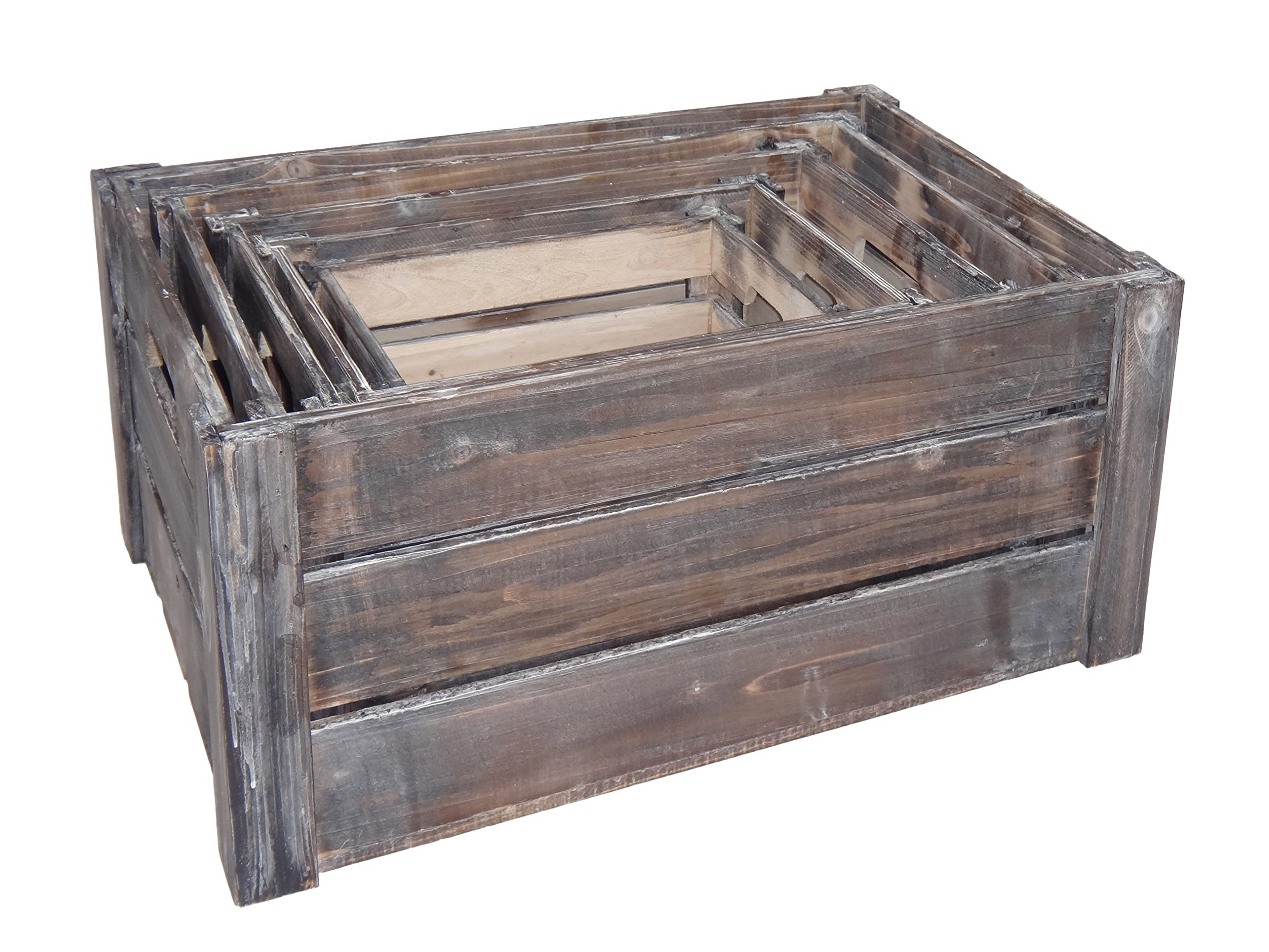 Cheung's FP-3697-5 Nested Wood Slat Crate| Set of 5