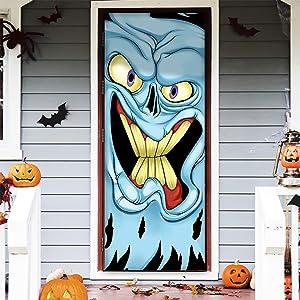 """JOYIN 3D Design Monster Door Cover 30"""" x 72"""" for Halloween Monster Door, Window and Wall Cover Indoor Outdoor Decoration"""