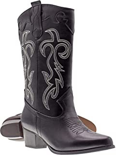 79e2875ab4e Canyon Trails Women's Classic Pointed Toe Embroidered Western Rodeo Cowboy  Boots