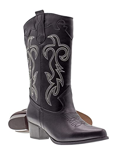 9bee9d3f298 Canyon Trails Women's Classic Pointed Toe Embroidered Western Rodeo Cowboy  Boots
