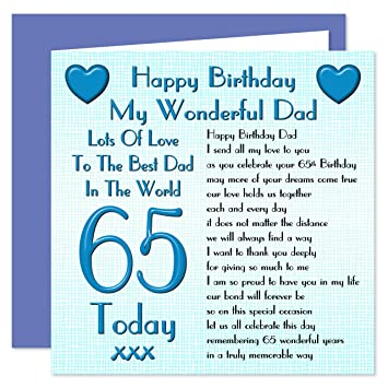 Dad 65th Happy Birthday Card