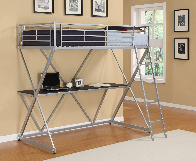 Amazoncom XLoft Bunk Bed Silver Kitchen Dining