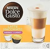NESCAFÉ Dolce Gusto Skinny Latte Macchiato Coffee Pods, 16 Capsules (Pack of 3 - Total 48 Capsules, 24 Servings)