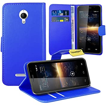 Vodafone Smart 4 Turbo Funda, FoneExpert® Wallet Flip Billetera Carcasa Caso Cover Case Funda de Cuero Para Vodafone Smart 4 Turbo (Azul): Amazon.es: ...
