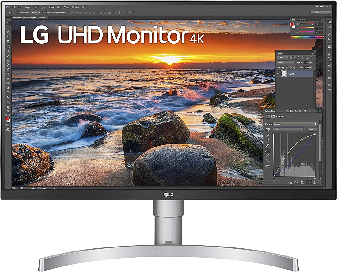 Monitor pc 27 pollici lg 27un83a ultrahd 4k led ips hdr, 3840x2160