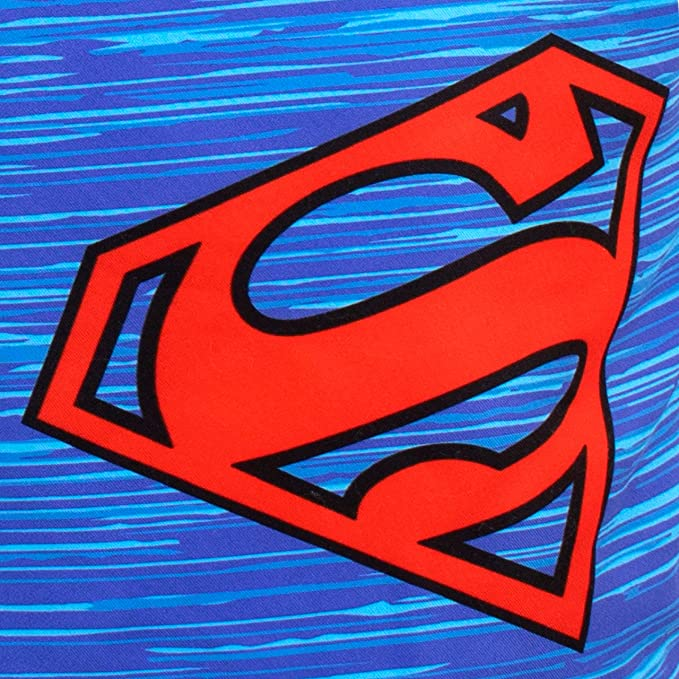 Handmade Childrens Boys Superman Character Superhero Tie Pre-tied elasticated