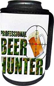 3dRose MacDonald Creative Studios – Beer - Professional Beer Hunter for any beer drinker, redneck, and hunter. - Can Cooler Bottle Wrap (cc_295342_1)