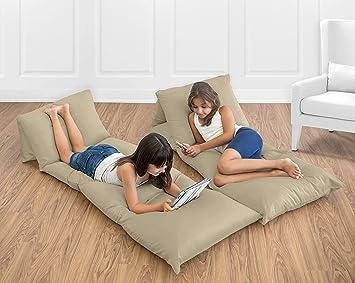 Amazon.com : Sweet Jojo Designs Taupe Kids Teen Floor Pillow Case ...