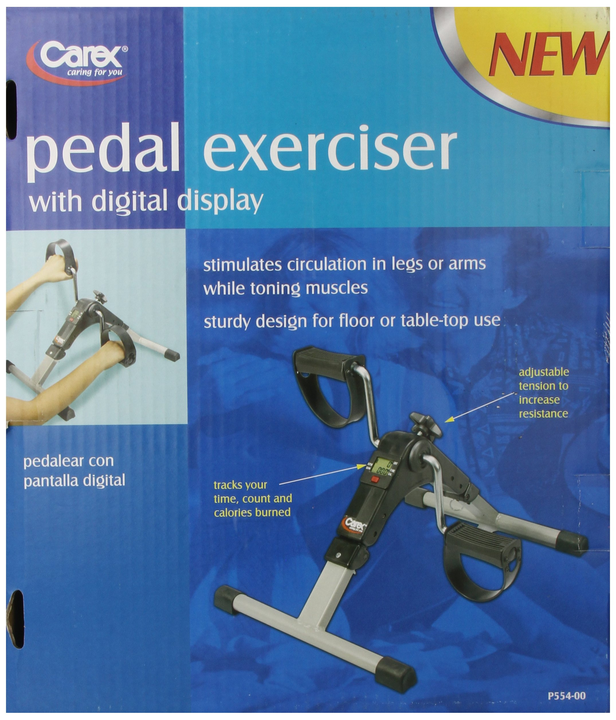 Carex Health Brands Carex Pedal Exerciser with Digital Display by Carex Health Brands (Image #2)