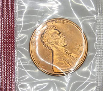 1974 D Lincoln Memorial Penny Uncirculated US Mint at