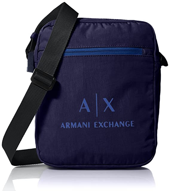 Armani Exchange - Messenger Bags, Carteras Hombre, Azul (Dark Sea), 45.0x14.0x35.5 cm (B x H T): Amazon.es: Zapatos y complementos