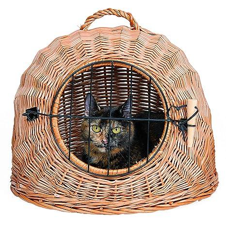Trixie 2870 Transportín Mimbre Gatos Perro Pequeño, 45 cm