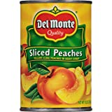Del Monte Canned Yellow Cling Sliced Peaches in Heavy Syrup, 15.25-Ounce Cans (Pack of 12)