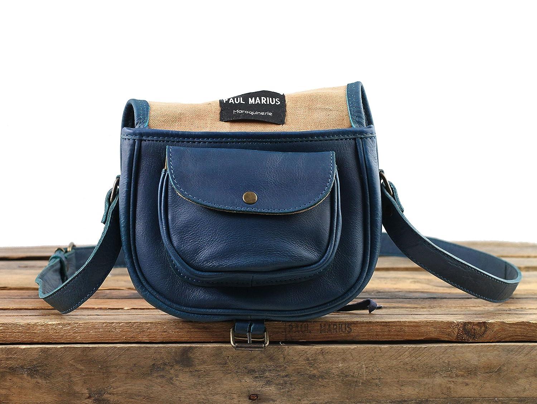 LE BOHEMIEN Cobalt leather shoulder bag bohemian style adjustable strap  PAUL MARIUS  Amazon.co.uk  Shoes   Bags c5024b16e2cb8