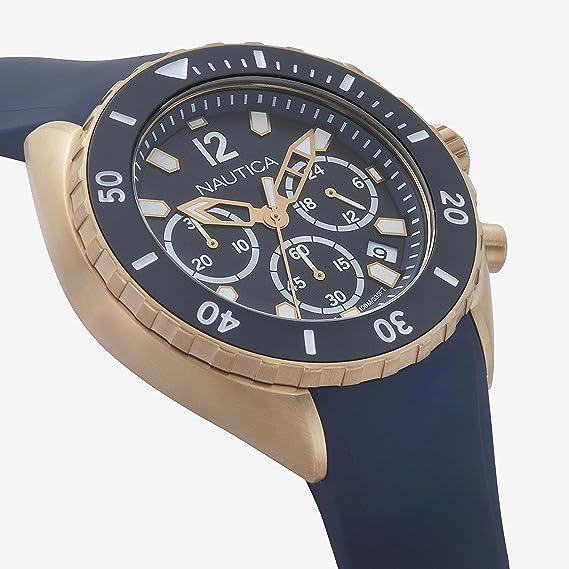 Amazon.com: Nautica Mens New Port Stainless Steel Quartz Watch with Silicone Strap, Blue, 22 (Model: NAPNWP007: Nautica: Watches