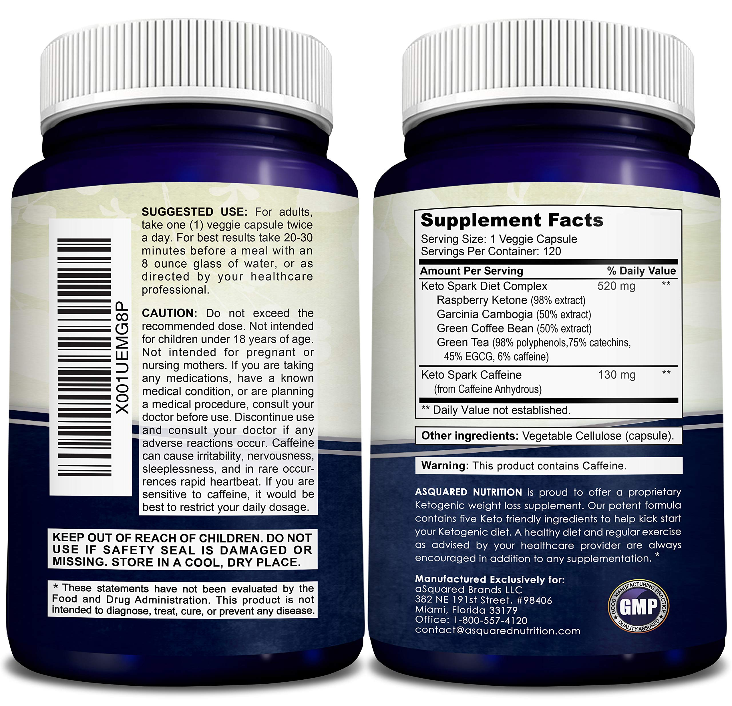 Keto Spark - Supplement for Weight Loss (120 Capsules) - Pills Approved for The Ketogenic & Paleo Diet - Helps Stay in Ketosis, Increase Energy & Focus - Caffeine & Ketones for Women & Men by aSquared Nutrition (Image #6)
