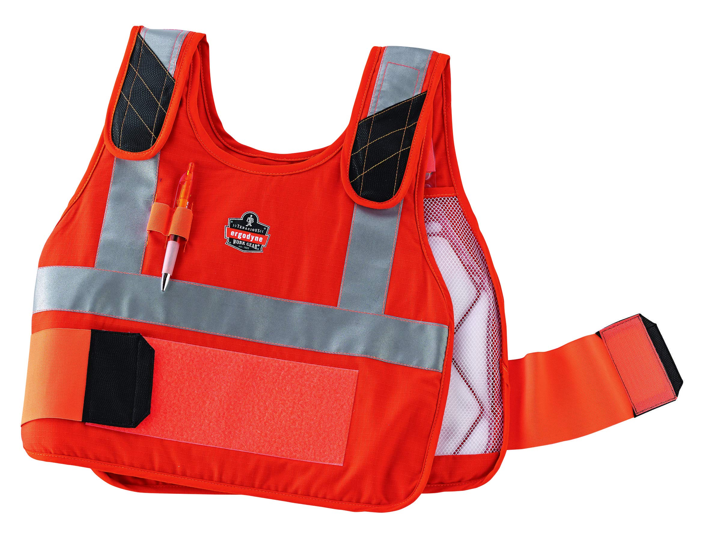 Ergodyne Chill-Its 6215 Fire Resistant/Rated High Visibility Cooling Vest, L/XL, Orange by Ergodyne (Image #4)