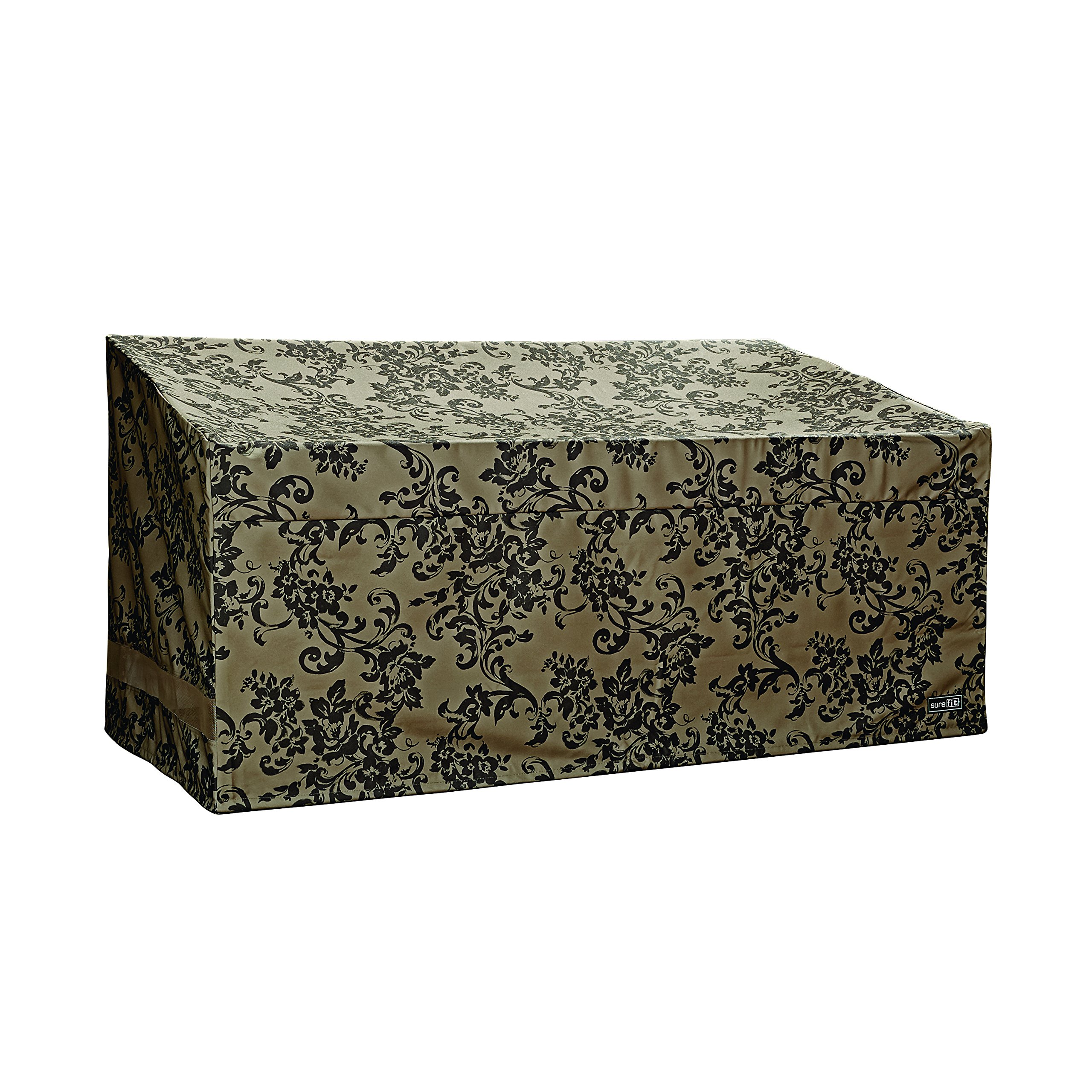 Patio Armor Loveseat/Bench Cover With Pu Coating, Damask Print