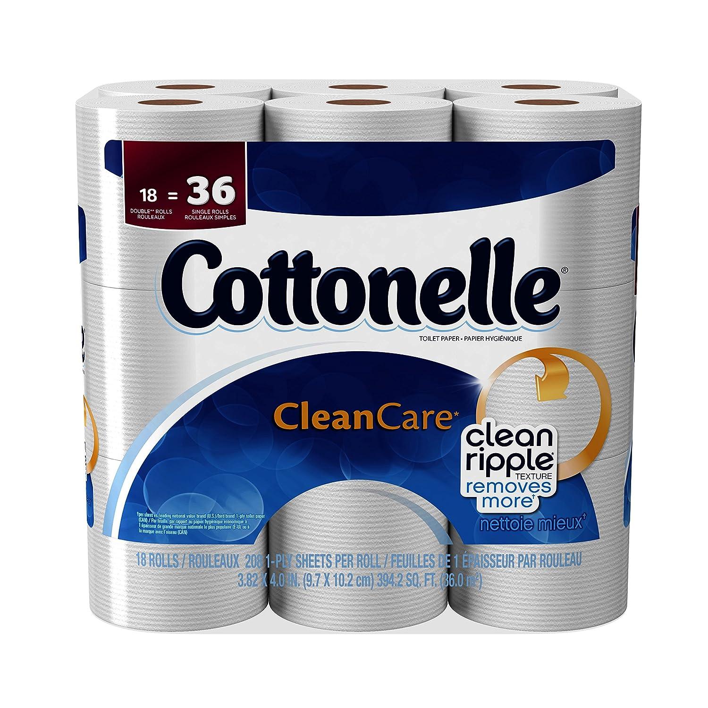 Cottonelle Clean Care Toilet Paper, Double Roll, 18 Count 38561