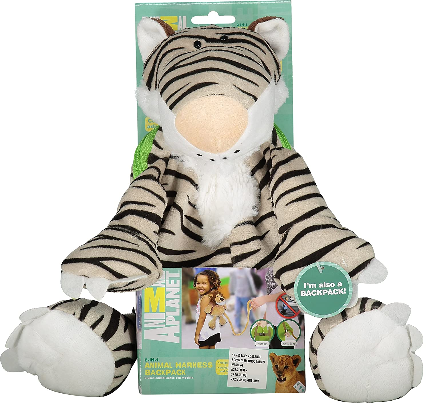 Amazon.com : Animal Planet Baby Backpack with Safety Harness, Tiger : Plush Backpacks : Baby