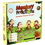 MONKEY FRACTIONS card game to introduce fraction skills STEM toy Math manipulative gift for kids 6 years and up