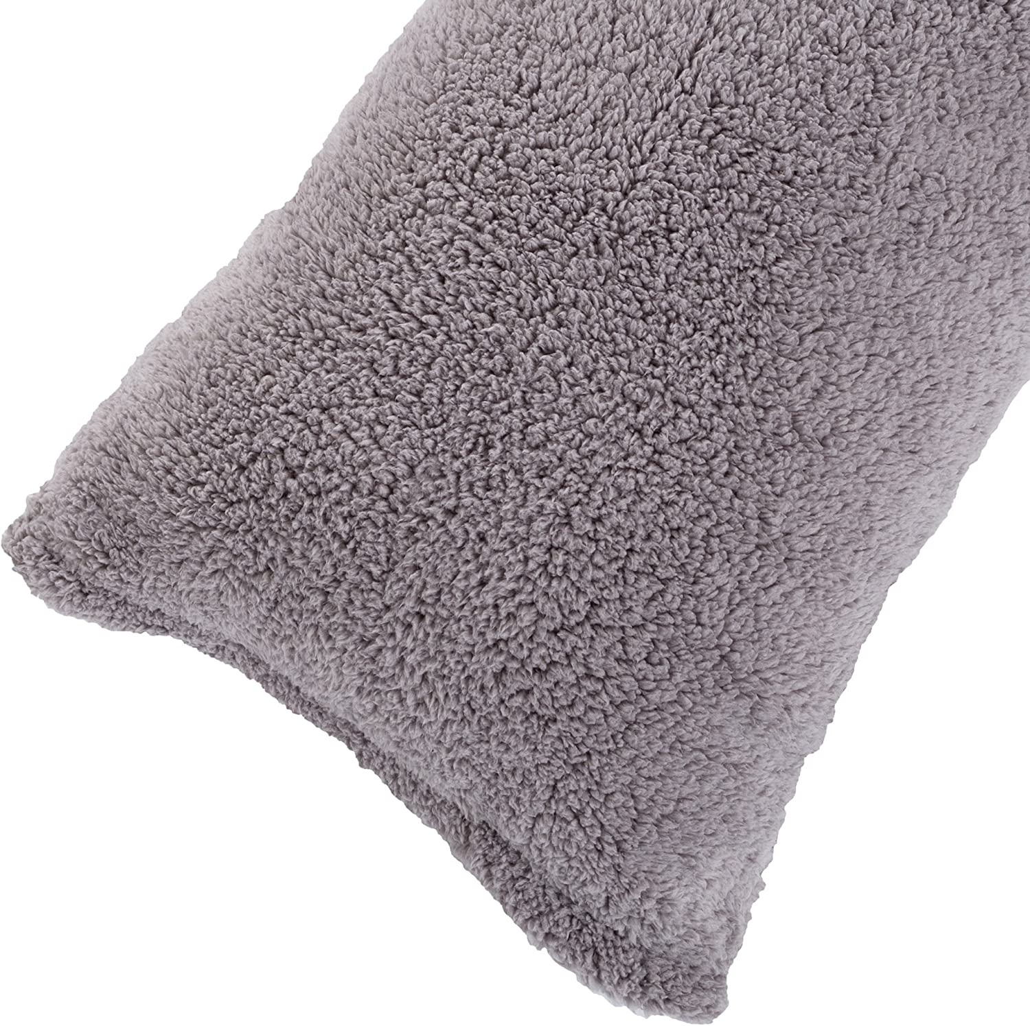 """Body Pillow Cover. Sherpa with side zipper by Lavish Home – 18 """"x52"""