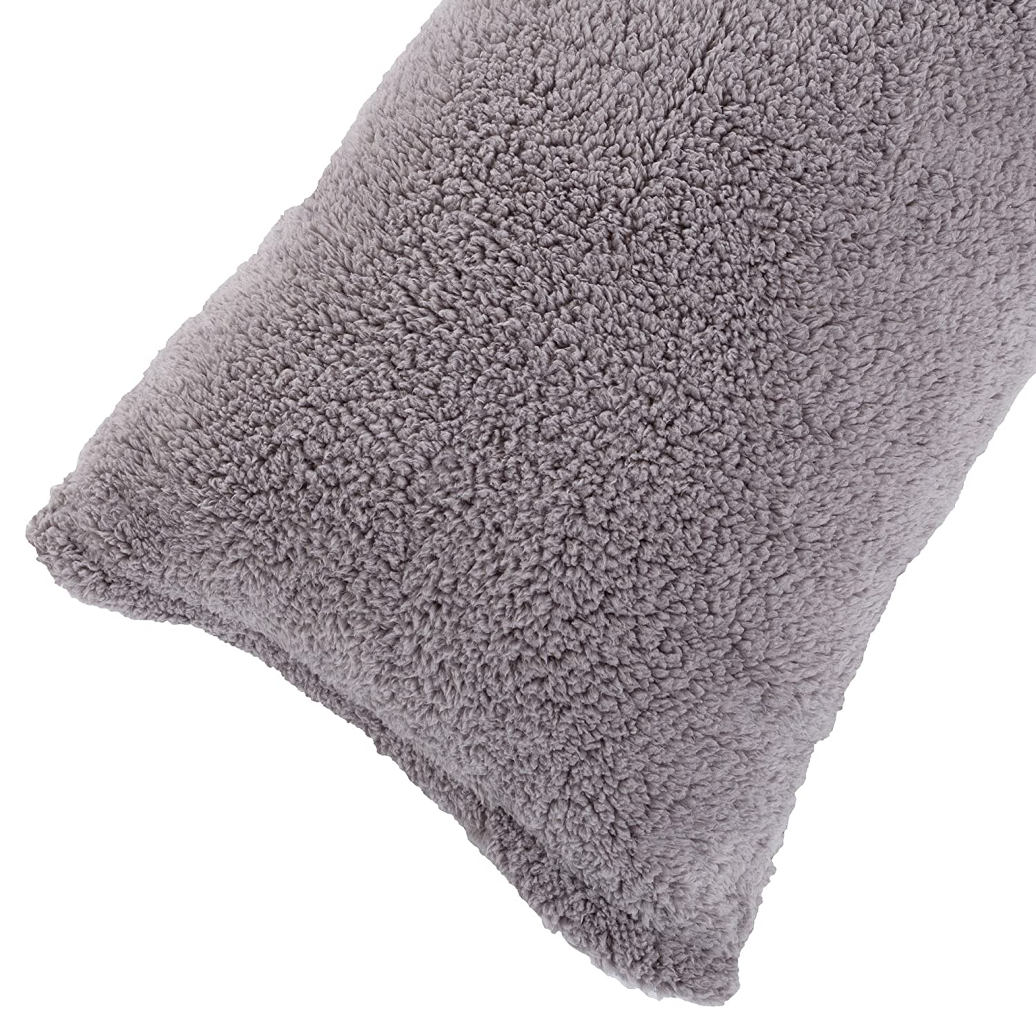 Sherpa Body Pillow Cover.Body Pillow Cover Sherpa With Side Zipper By Lavish Home 18 X52 Grey