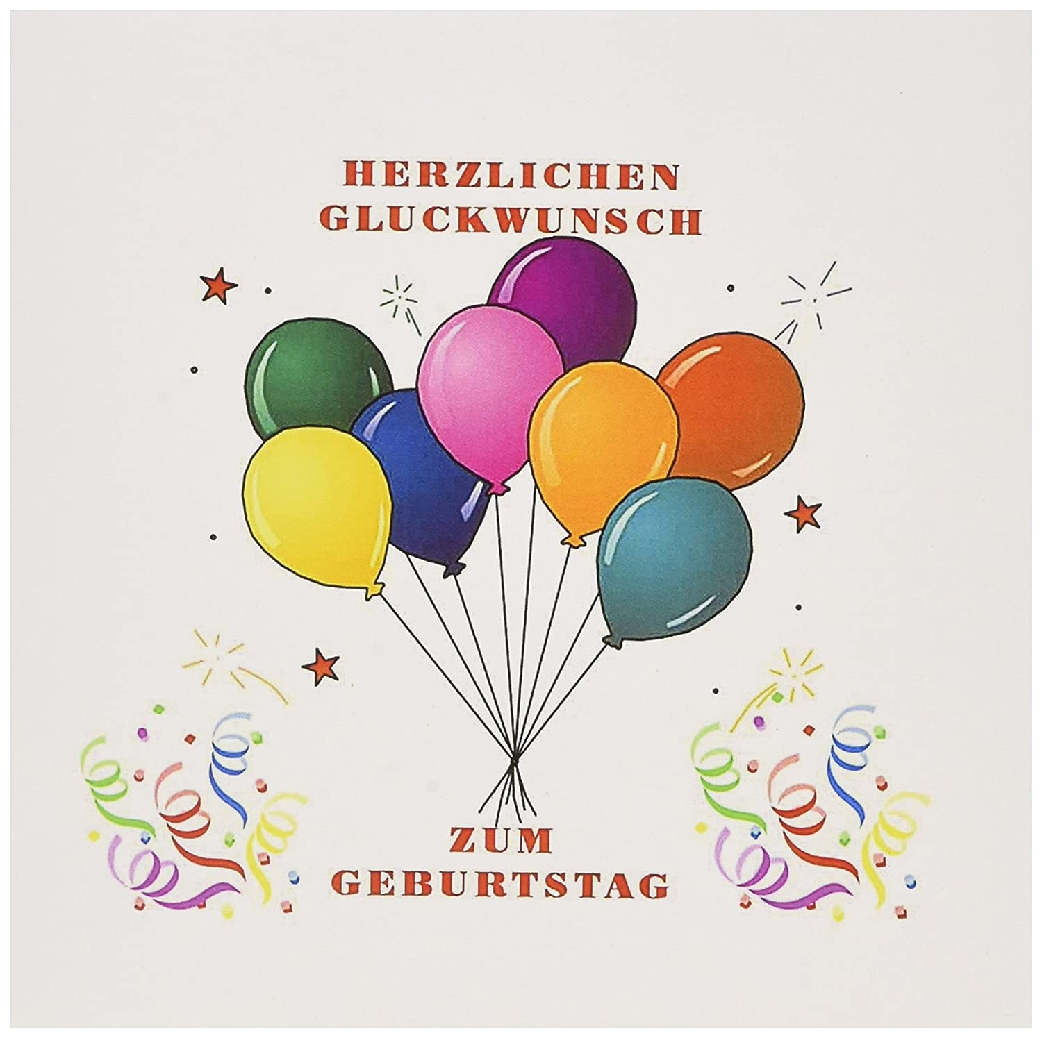 Amazon Image Of Happy Birthday In German Balloons And Confetti