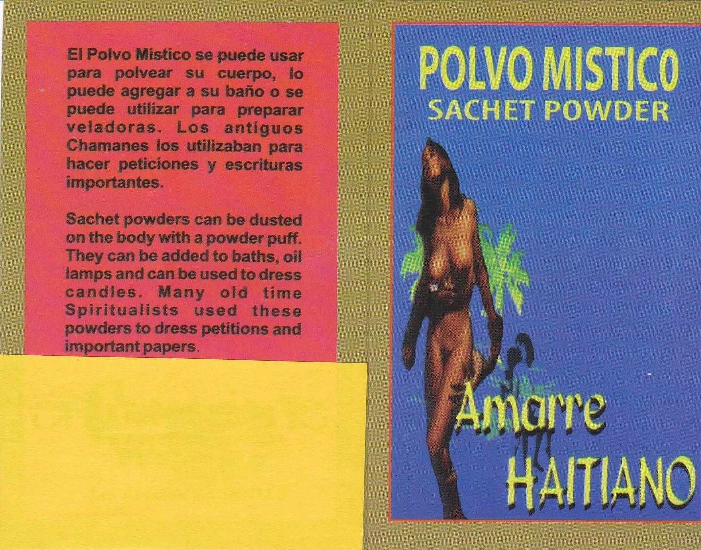 1 pkt. POLVO MISTICO AMARRE HAITIANO SACHET POWDER 1/2 oz pkt .... by Unknown (Image #2)