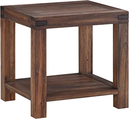 Modus Furniture Meadow Table, End, Brick Brown